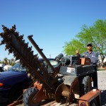 Affordable Tree Service Crew Member with Trencher